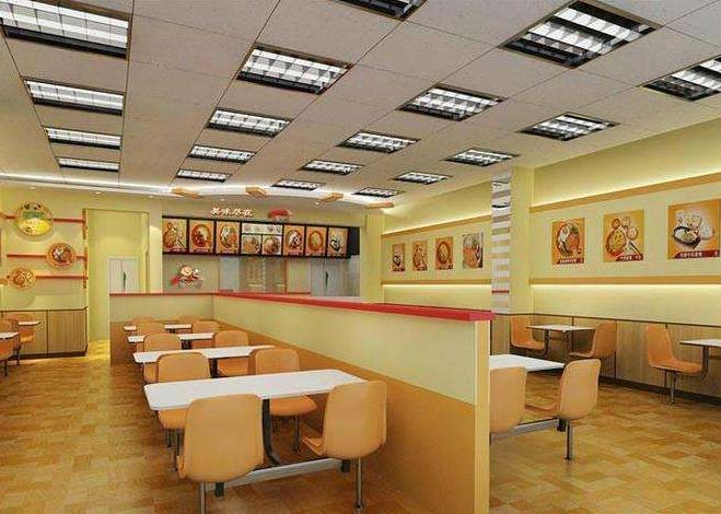 快餐加盟-时尚快餐店装修风格及装修图片
